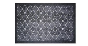 FUßMATTE 40/60 cm Karo Grau  - Grau, Basics, Kunststoff/Textil (40/60cm) - Esposa