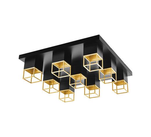 LED-DECKENLEUCHTE - Goldfarben/Schwarz, Design, Metall (60/60/17cm)