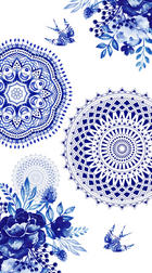 STRANDTUCH 100/180 cm - Blau/Weiß, Textil (100/180cm)