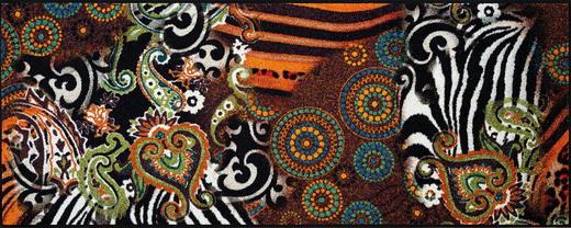 FUßMATTE 75/190 cm Graphik Multicolor - Multicolor, Kunststoff/Textil (75/190cm) - Esposa