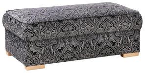 HOCKER in Textil Grau, Schwarz  - Schwarz/Naturfarben, Design, Holz/Textil (112/43/60cm) - Carryhome