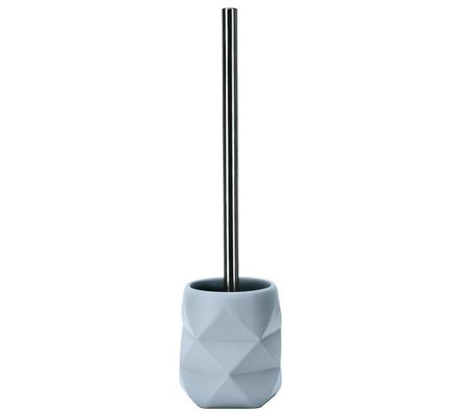 WC-BÜRSTENGARNITUR in Kunststoff - Blau/Alufarben, Trend, Kunststoff (10,6/39cm) - Kleine Wolke