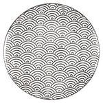 DESSERTTELLER 20,5 cm  - Schwarz/Weiß, Trend, Keramik (20,5cm) - Novel