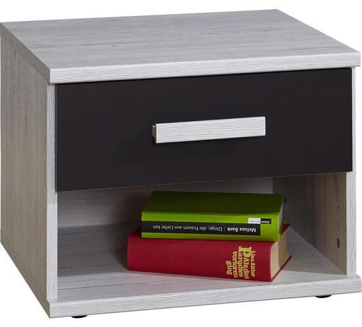 NACHTKÄSTCHEN Graphitfarben, Weiß - Graphitfarben/Weiß, Design, Kunststoff (46/38/40cm) - Carryhome