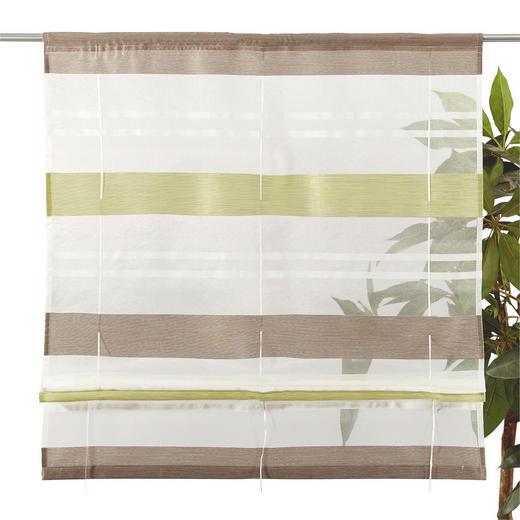 RAFFROLLO  halbtransparent   80/130 cm - Hellgrün, Basics, Textil (80/130cm) - ESPOSA