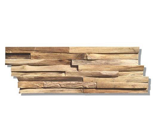 WANDVERKLEIDUNG - Teakfarben, Holz (50/20/1-2cm) - Venda