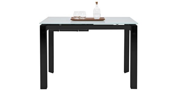 ESSTISCH rechteckig Grau, Schwarz  - Schwarz/Grau, Design, Glas/Metall (110(155)/70/77cm) - Dieter Knoll