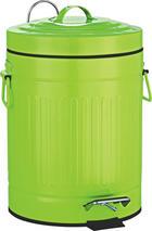 NÁŠLAPNÝ KOŠ - černá/zelená, Basics, kov/umělá hmota (20.5/31cm)