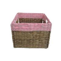 KOŠARA ZA REGAL - naravna/roza, Basics, kovina/tekstil (30/30/23cm) - Landscape