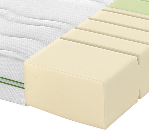 KALTSCHAUMMATRATZE ROAD 250 COMFEEL PLUS 120/200 cm - Weiß, Basics, Textil (120/200cm) - Schlaraffia