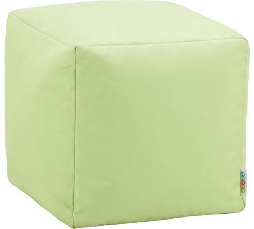 SEDACÍ KOSTKA,  - světle zelená, Design, textil (40/40/40cm) - Boxxx