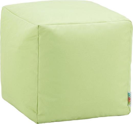 SEDACÍ KOSTKA - světle zelená, Design, textilie (40/40/40cm) - Boxxx