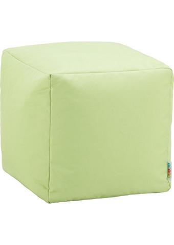 TABURE, tekstil svetlo zelena  - svetlo zelena, Design, tekstil (40/40/40cm) - Boxxx