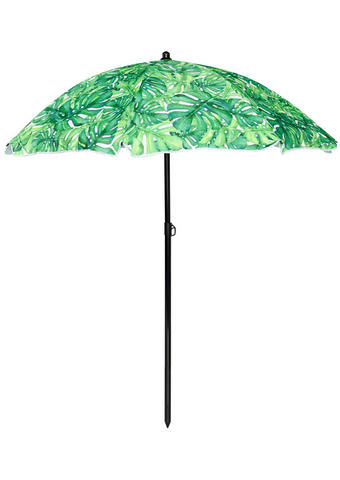 SENČNIK - temno siva/zelena, Konvencionalno, kovina/umetna masa (180/200/180cm) - Ambia Garden
