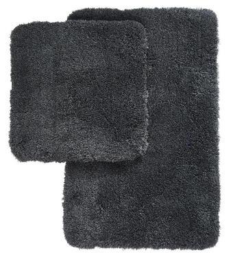 KOBEREC DO KOUPELNY - antracitová, Basics, textil/umělá hmota (55/85cm) - Kleine Wolke