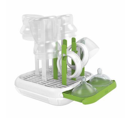 STALAK ZA BOČICE     - bijela/zelena, Basics, plastika (21.8/7.5/25.0cm) - Chicco