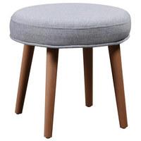 TABURET, eukalyptové dřevo, přírodní barvy, světle šedá, světle modrá - modrá/světle šedá, Design, dřevo/textil (39/35cm) - Carryhome