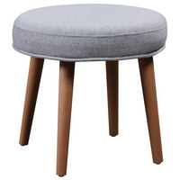 TABURET - modrá/světle šedá, Design, dřevo/textilie (39/35cm) - Carryhome
