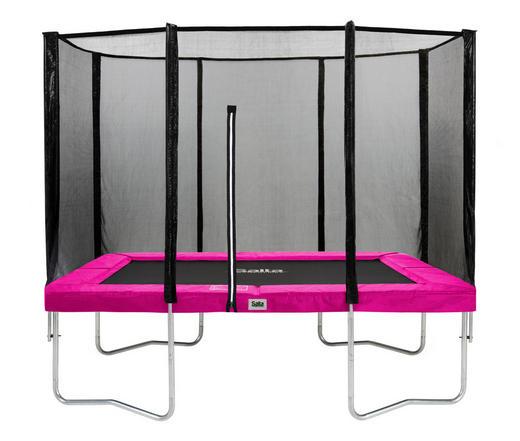 TRAMPOLIN SALTA COMBO 153/214 cm Pink, Schwarz - Pink/Schwarz, Trend, Kunststoff/Metall (153/214cm)
