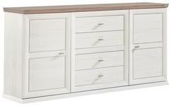 SIDEBOARD 180/89/43 cm  - Weiß/Grau, LIFESTYLE, Holzwerkstoff/Metall (180/89/43cm) - Hom`in
