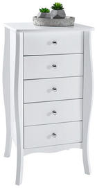 KOMMODE 45/85/40 cm - Alufarben/Weiß, LIFESTYLE, Holzwerkstoff/Kunststoff (45/85/40cm) - Carryhome
