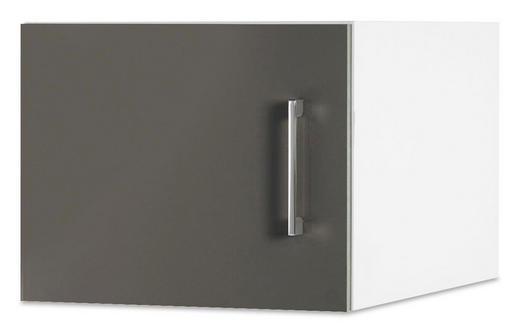 AUFSATZSCHRANK 40/32/57 cm Grau, Weiß - Chromfarben/Weiß, Design, Metall (40/32/57cm) - Carryhome