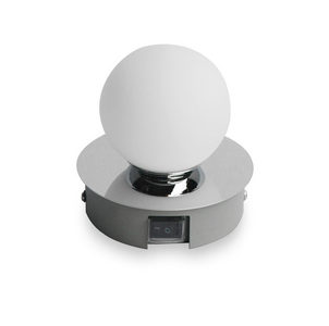 ZIDNA LAMPA ZA KUPATILO - Boje hroma, Dizajnerski, Metal/Staklo (11/11/10,5cm) - Celina