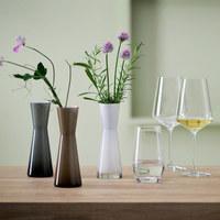 VASE 18 cm - Weiß/Grau, Design, Glas (18cm) - Leonardo