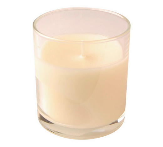 KERZE IM GLAS - Transparent/Creme, Basics, Glas (7,2/8cm) - Ambia Home