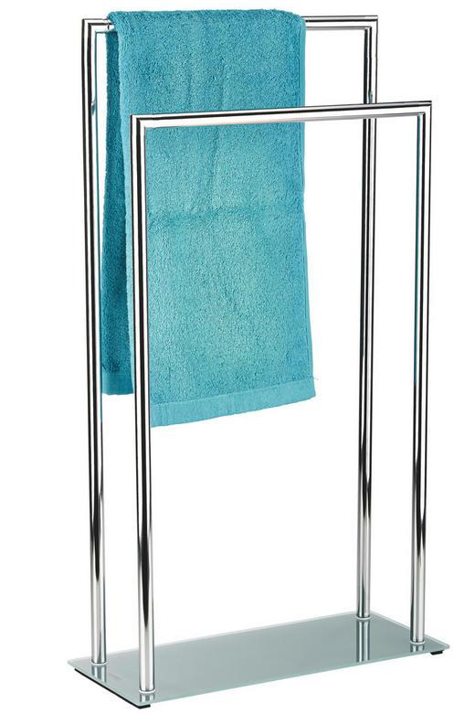 HANDTUCHHALTER Chromfarben - Chromfarben, Design, Glas/Metall (46/20/82cm)