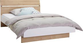 BETT 140 cm   x 200 cm   in Holzwerkstoff Eichefarben, Weiß - Eichefarben/Weiß, Design, Holzwerkstoff (140/200cm) - Hom`in