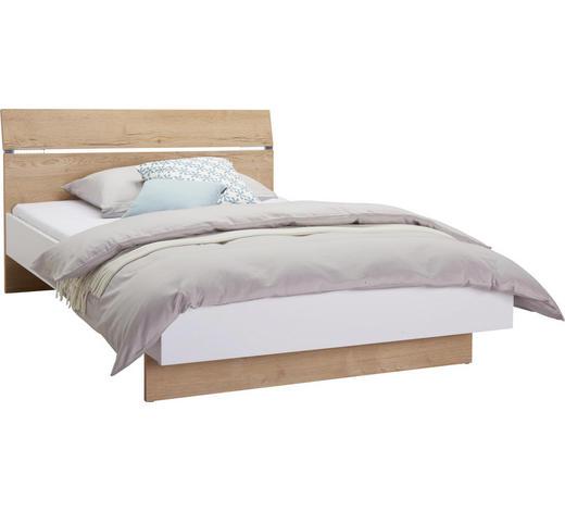 Bett In Weiss Eichefarben