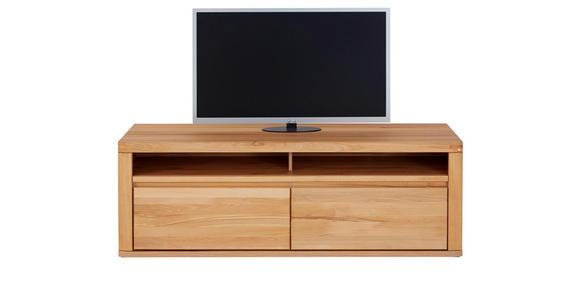 TV-ELEMENT 165/57/51 cm - Silberfarben/Buchefarben, KONVENTIONELL, Holz (165/57/51cm) - Voleo