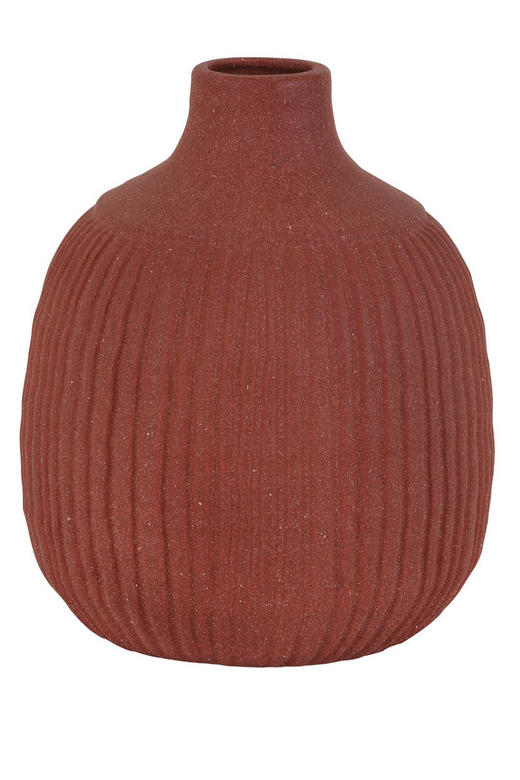 DEKOVASE - Rot/Braun, LIFESTYLE, Keramik (21/26cm)