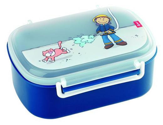 BROTZEITBOX - Blau/Hellblau, Basics, Kunststoff (17/11/7cm) - Sigikid