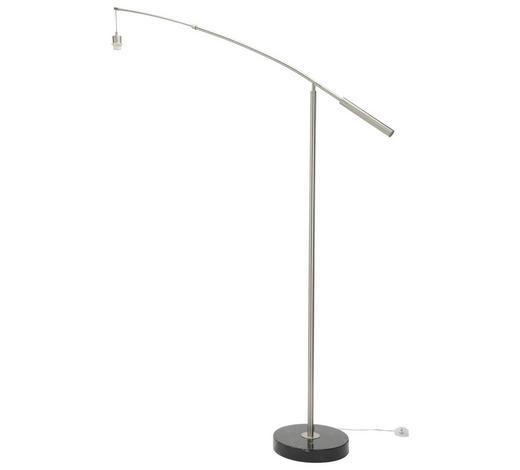 STEHLEUCHTE - Nickelfarben, Basics, Metall (32/160/195cm)