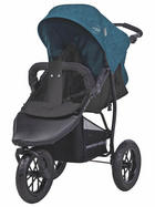Knorr-Baby Buggy  Joggy S Melange  Petrol, Schwarz - Petrol/Schwarz, Basics, Textil/Metall (60/110/104cm)