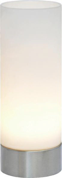 LED BORDSLAMPA - vit/nickelfärgad, Basics, metall/glas (21,5/8cm) - Boxxx