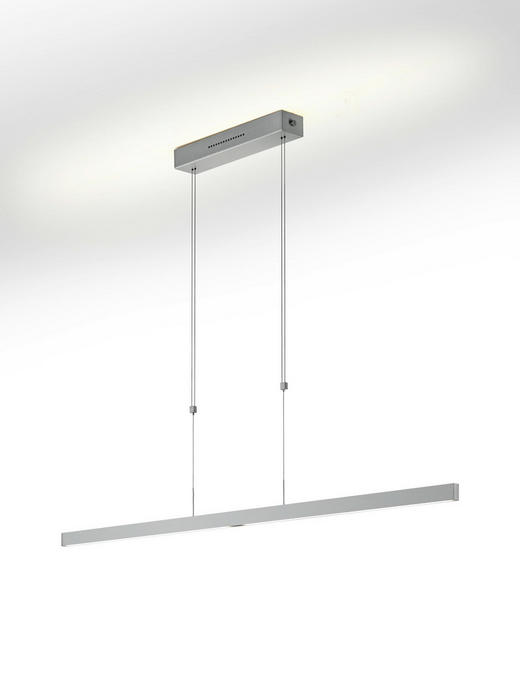 LED-HÄNGELEUCHTE - Nickelfarben, Design, Metall (130cm)