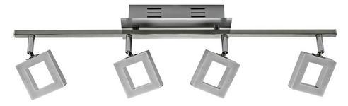 LED-STRAHLER - Chromfarben/Alufarben, Design, Kunststoff/Metall (67,5/8/19cm) - Novel