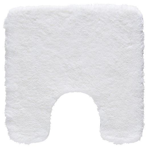 WC-VORLEGER  Weiß  55/55 cm - Weiß, Basics, Kunststoff/Textil (55/55cm) - KLEINE WOLKE