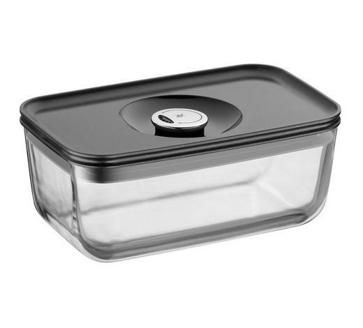 FRISCHHALTEDOSE 1,2 L  - Klar/Anthrazit, Basics, Glas/Kunststoff (13/21cm) - WMF