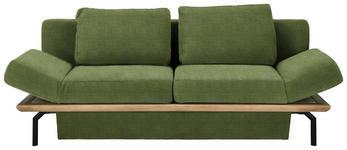 SCHLAFSOFA in Holz, Textil Eichefarben, Hellgrün - Eichefarben/Schwarz, MODERN, Holz/Textil (234/90/102cm) - Dieter Knoll