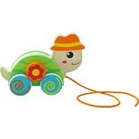 Ziehfigur Schildkröte - Multicolor, Natur, Holz/Holzwerkstoff (18/12,8/6,85cm) - My Baby Lou