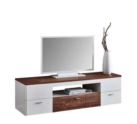 KOMODA LOWBOARD, bílá, barvy dubu - bílá/barvy dubu, Konvenční, kov/kompozitní dřevo (180/50/55cm) - Xora