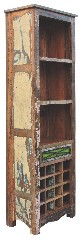 REGAL in 60/180/35 cm Multicolor - Multicolor/Braun, LIFESTYLE, Holz/Metall (60/180/35cm) - Landscape