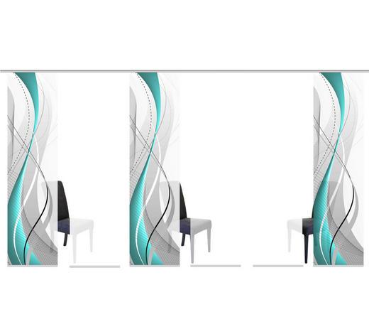 FLÄCHENVORHANG in Petrol  - Petrol, Design, Textil (60/245cm)