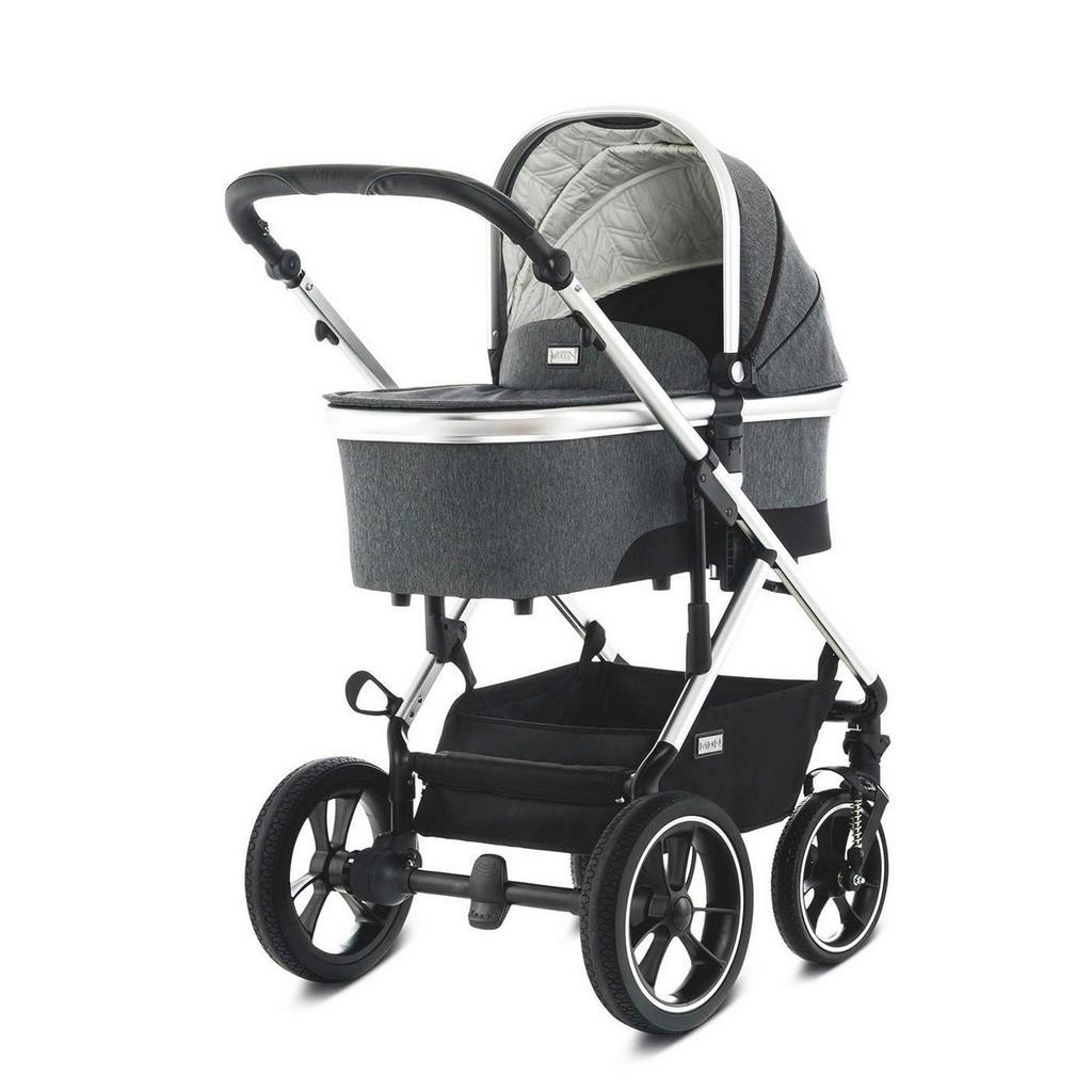 Grauer Kinderwagen 'Nuova' von MON