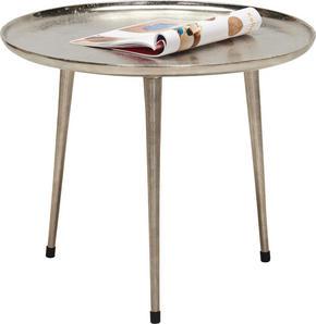 BEISTELLTISCH - nickelfärgad, Design, metall (58/48cm) - Xora