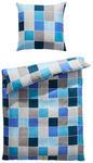 BETTWÄSCHE Mikrofaser Blau, Türkis 135/200 cm - Türkis/Blau, Design, Textil (135/200cm) - Boxxx